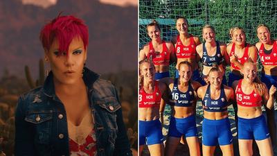 Pink prête à payer l'amende des handballeuses norvégiennes ayant...