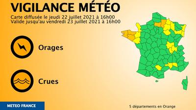 Orages : trois départements bretons placés en vigilance orange