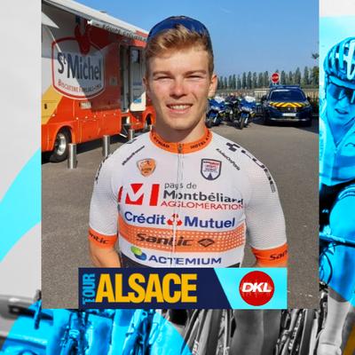 En direct du Tour Alsace | Le coureur cycliste Axel Zingle