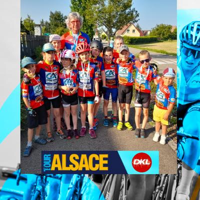 En direct du Tour Alsace | Les jeunes cyclistes de Montreux-Vieux