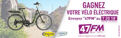 Gwenaëlle gagne le Vélo Electrique