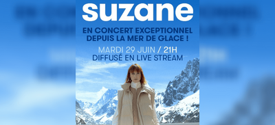 Suzane en concert depuis la Mer de Glace pour alerter sur le...