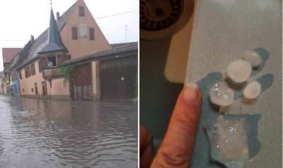 ORAGES   A35 coupée, grêle et inondations : nuit mouvementée en Alsace