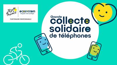 Collecte solidaire de téléphones organisée par Ecosystem