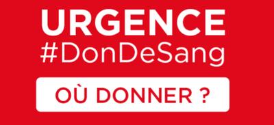 L'appel à la mobilisation pour le don de sang