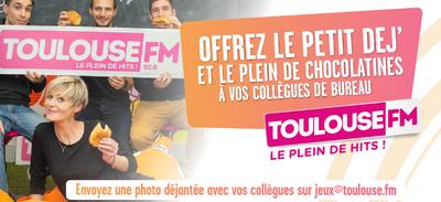 TOULOUSE FM OFFRE LE PETIT DEJ' À VOS COLLÈGUES !
