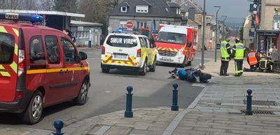 un motard gravement blessé en centre-ville de Vire