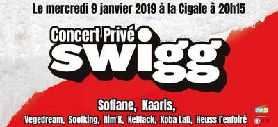 Gagne tes places pour le concert privé SWIGG avec Sofiane, Kaaris, Vegedream ...