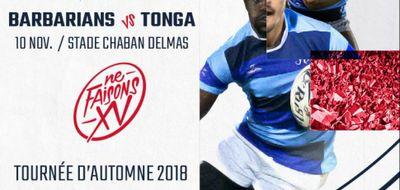 À GAGNER : Vos places pour le match Barbarians - Tonga !