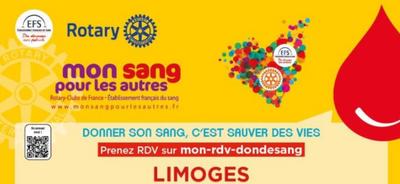 Limoges: venez donner votre sang et profitez d'une collation...