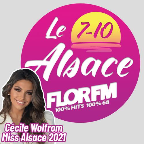 MISS ALSACE, CECILE WOLFORM DANS LE 7-10 ALSACE