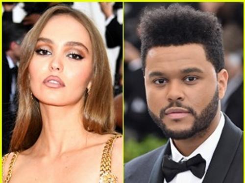 """Lily-Rose Depp et The Weeknd dans la série """"The Idol"""""""