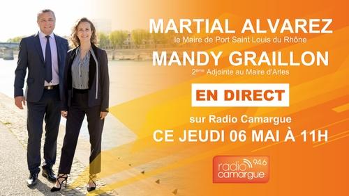 [POLITIQUE]: Mandy Graillon,et Martial Alvarez en direct sur Radio Camargue