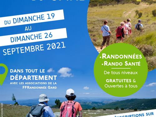 [ CULTURE / LOISIR ] GARD : 1ERE SEMAINE DE LA RANDONNEE DU 19 AU...