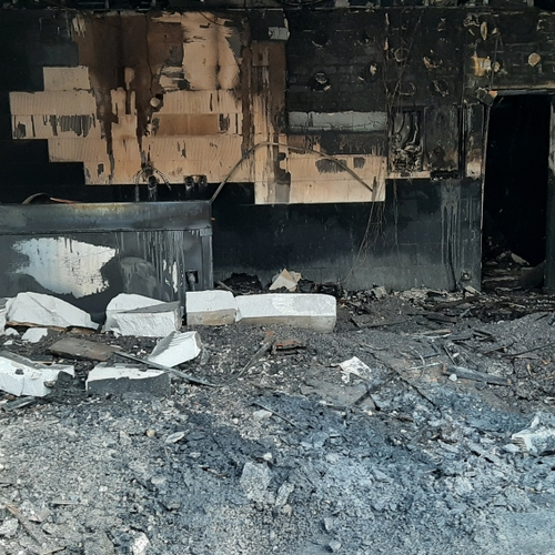 Incendie rue des Perrières
