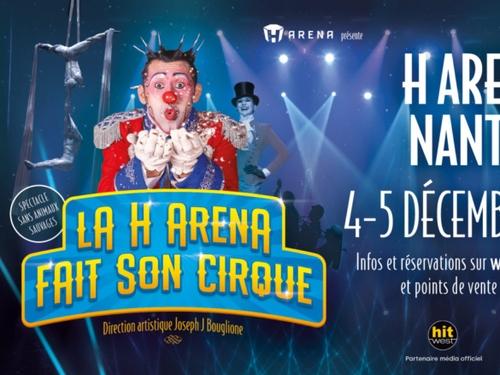 Un spectacle de cirque, en fin d'année à la H Arena