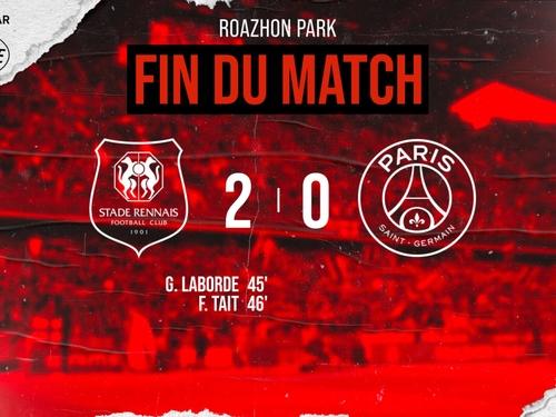 Rennes inflige sa première défaite à Paris