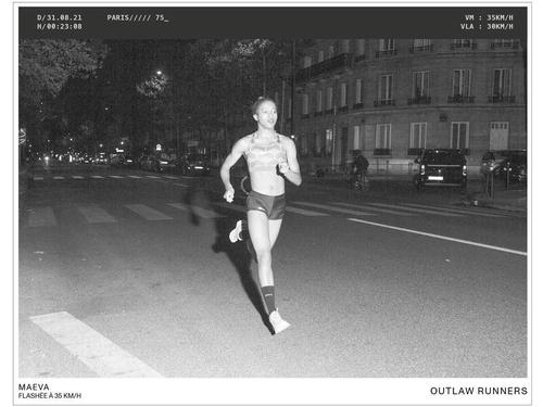 NON,  un coureur dépassant les 30 km/h ne peut pas se fait flasher...