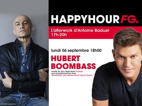 Hubert 'Boombass', moitié des Cassius et invité ce soir de l'Happy...