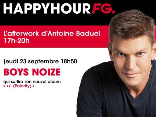 Boys Noize invité de l'Happy Hour FG ce soir !