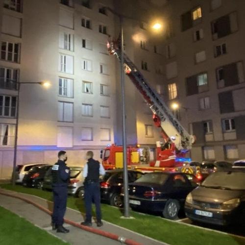 Très violent incendie en cours
