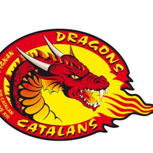 Dragons catalans :Ugo deKohLantaà fond derrière lesDracs