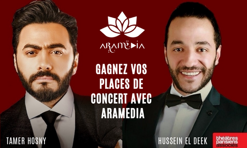 Aramédia vous offre des places pour le concert de Tamer Hosny et...
