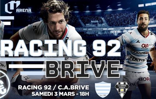 Gagnez vos places pour le match Racing 92 - Brive
