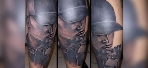 Un fan se fait tatouer le visage de Rohff sur sa jambe, le rappeur...