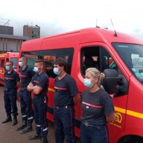 Des pompiers de la région en renfort dans le sud