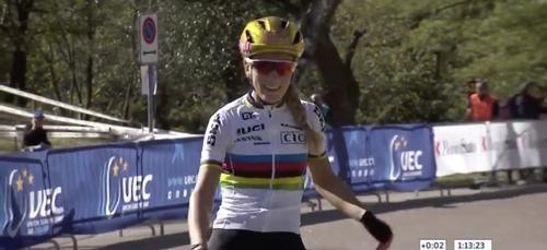 Pauline Ferrand-Prévôt championne d'Europe de VTT