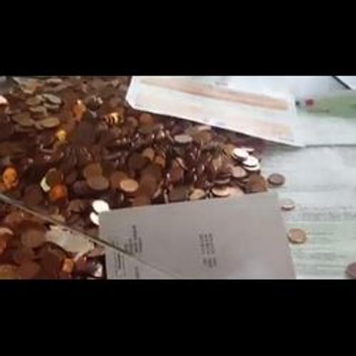 Il paye son amende de 90 euros... avec 5100 pièces et deux billets