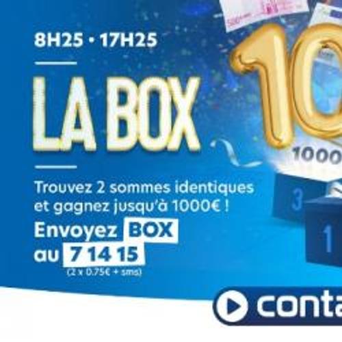 GAGNEZ JUSQU'A 1000€ AVEC LA BOX CONTACT FM !