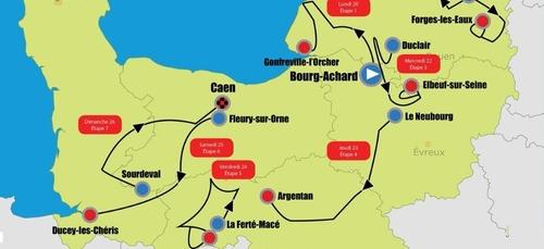Top départ du Tour cycliste de Normandie