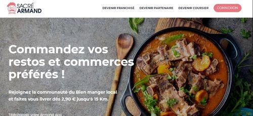Sacré Armand, la nouvelle plateforme de livraisons de plats à...