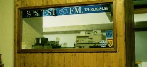 Les studios EST FM entre 1986/1989
