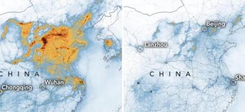 L'image du jour : avec le Coronavirus, la pollution baisse en Chine !