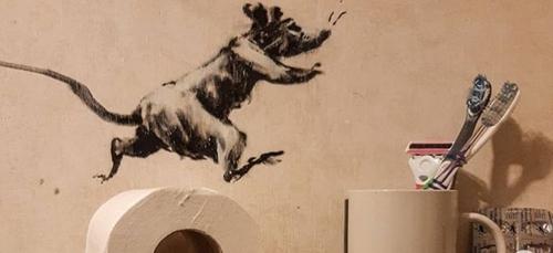 L'image du jour : Banksy télétravaille