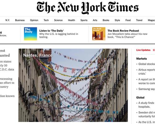 La rue Jean-Jacques Rousseau de Nantes dans le NY Times !