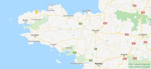 A Brest, plus de la moitié du cercle est dans l'eau !
