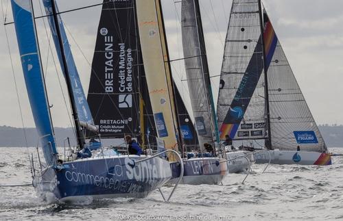 Solitaire du Figaro : Xavier Macaire en route vers Dunkerque