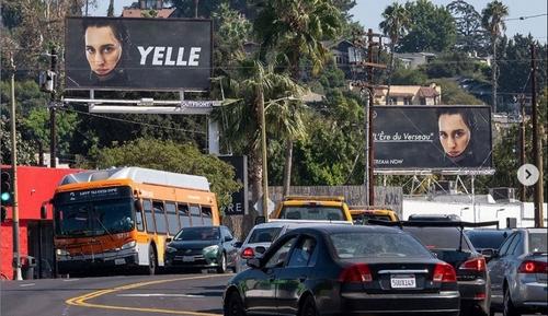 Yelle sur des panneaux publicitaires à Los Angeles