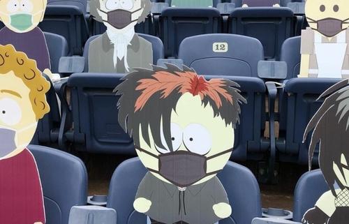 South Park dans des tribunes d'un stade aux USA