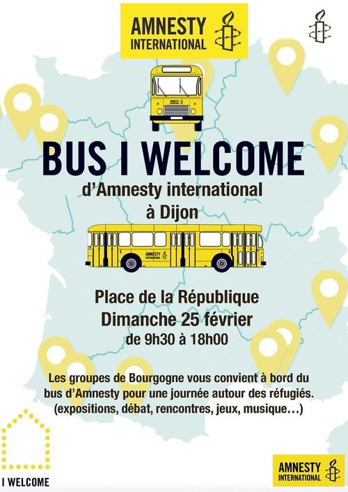 """Le Bus """"I Welcome"""" de passage à Dijon ce dimanche"""