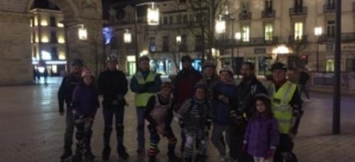 Retour de la rando roller à Dijon
