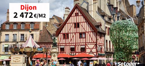 A Dijon, le prix de l'immobilier frôle les 2 500 €/m²