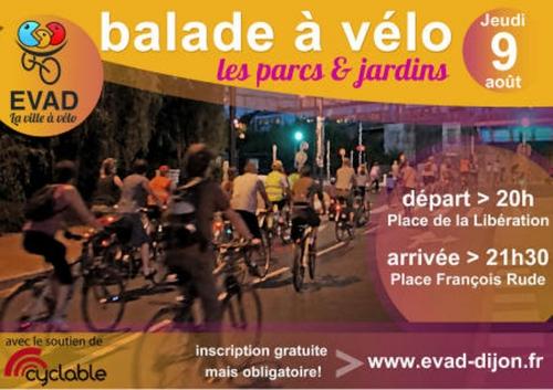 «Evad» et vous à vélo dans Dijon ce jeudi !