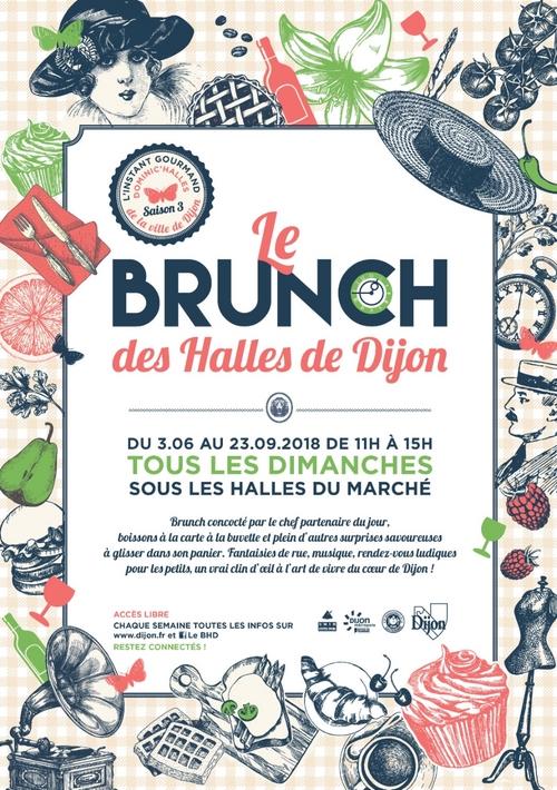 Les Halles de Dijon vous convient à leur brunch dominical !