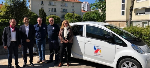Grand Dijon Habitat s'équipe de voitures électriques