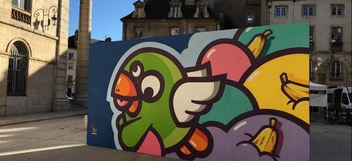 Le festival d'art urbain « Banana pshit » se poursuit à Dijon